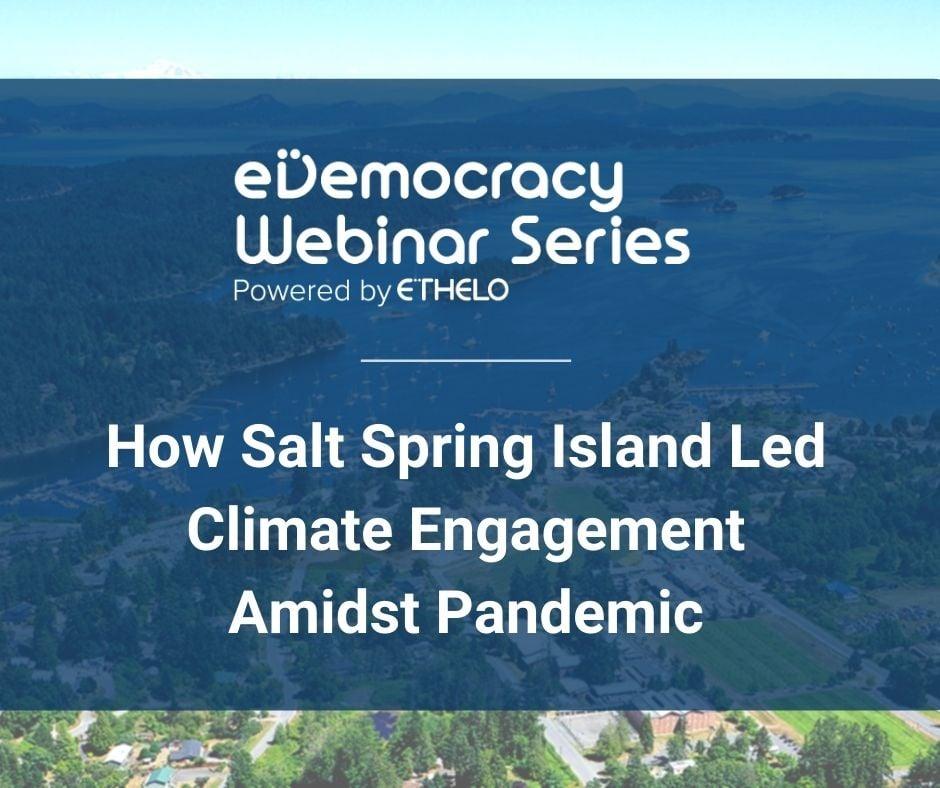 Salt Spring Case Study Webinar