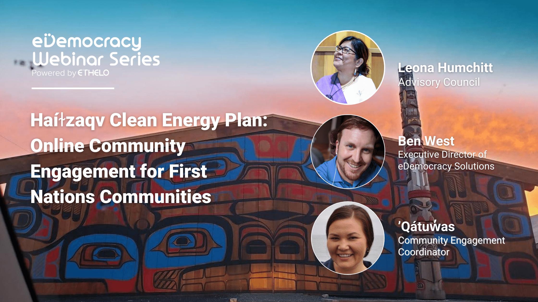 Haíɫzaqv Clean Energy Plan Webinar Speakers