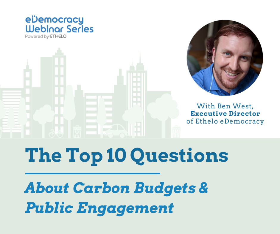 Top Ten Questions About Carbon Budgets and Public Engagement